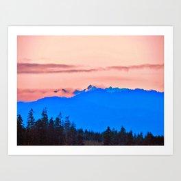The Cascading Mountain Range Art Print