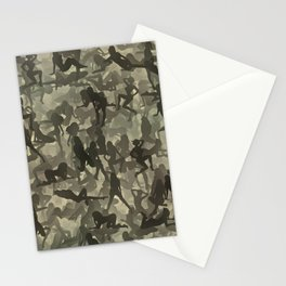 Sexy girls camouflage Stationery Cards
