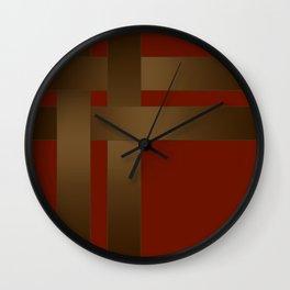 Weave Brown satin ribbons Wall Clock