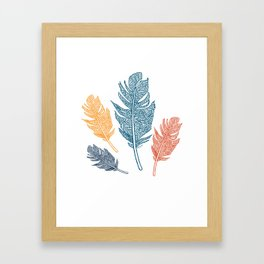 Sketched Feathers Framed Art Print