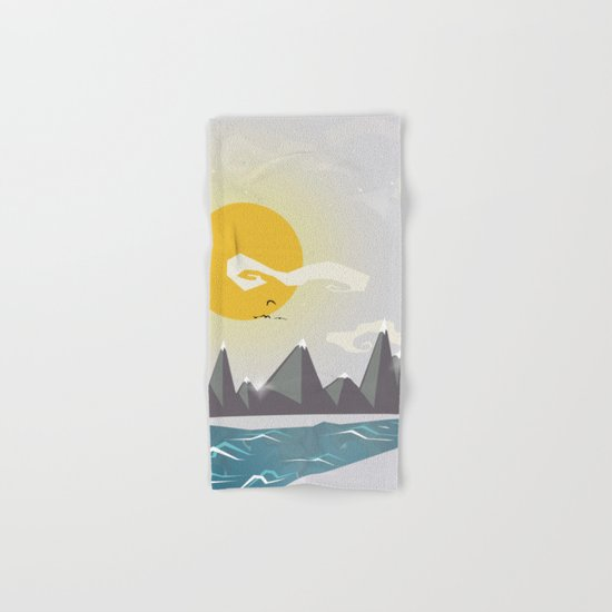 Grey mountains of joy Hand & Bath Towel