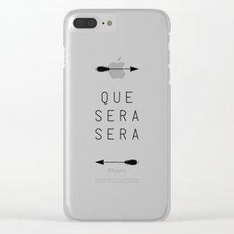 Que Sera Sera Arrow Clear iPhone Case