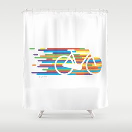 Colorful bicycle 1 Shower Curtain