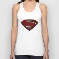 man of steel Tank Tops featuring Superman - Man of Steel by ochre7