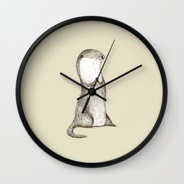 Sitting Otter Wall Clock
