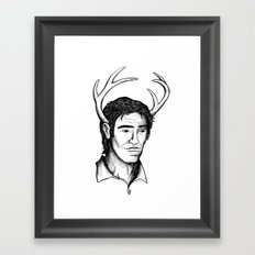 Deer John Framed Art Print