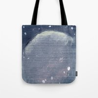 outer space Tote Bags featuring Outer Space  by Amanda Powzukiewicz