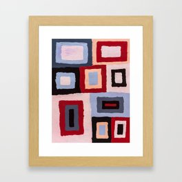 Spacetime connections Framed Art Print