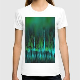 Dark Forest Green and Blue T-shirt