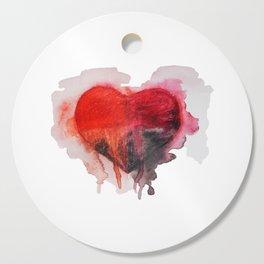 Watercolor heart Cutting Board