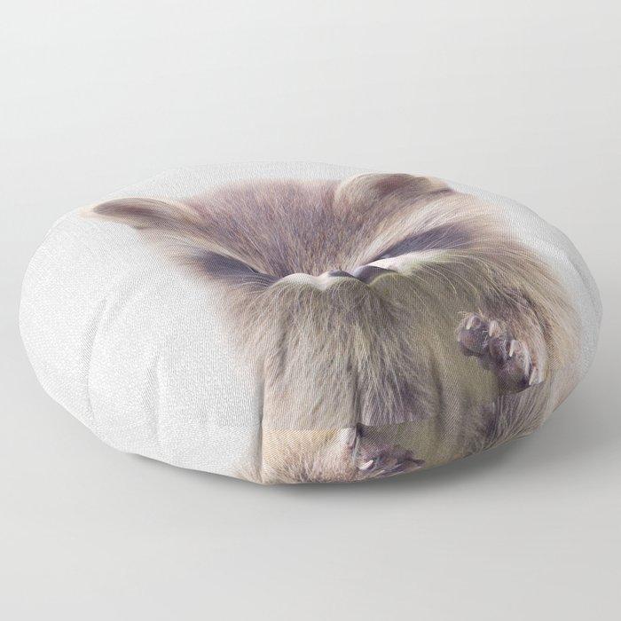 Raccoon - Colorful Floor Pillow