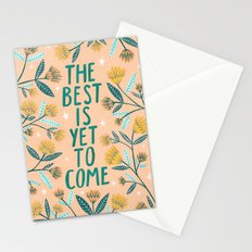 The Best is Yet to Come - Peach Stationery Cards