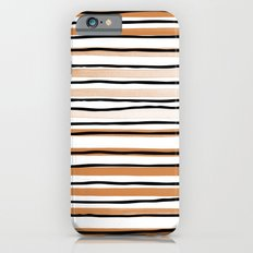 Copper Watercolor Stripes Slim Case iPhone 6s