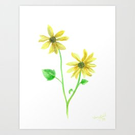 Simple Sunflower Art Print