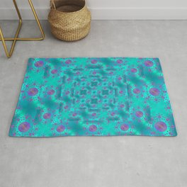 Sea sky. A look from the depths Rug