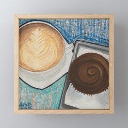 Cupcake and Coffee Framed Mini Art Print
