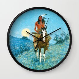 The Outlier by Frederic Sackrider Remington Wall Clock