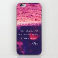 alice in wonderland iPhone & iPod Skins featuring Wonderland by Josrick