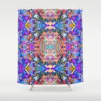 trippy Shower Curtains featuring TRIPPY by IZZA