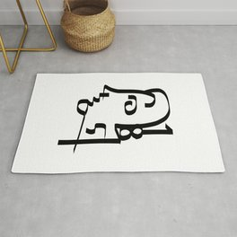 Numbers Face Rug