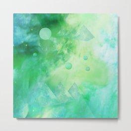 The Green Galaxy Metal Print