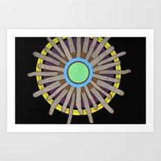 radial blame I Art Print