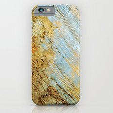 Blue and Gold Marble iPhone 6s Slim Case