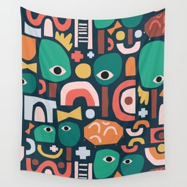 Abstract Playground Wall Tapestry