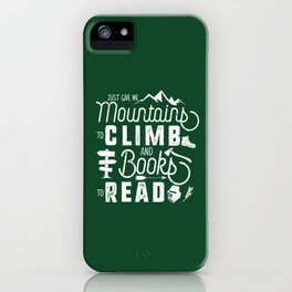 Moutnains & Books - Inverse iPhone Case
