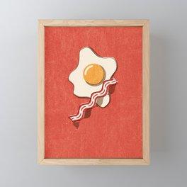 FAST FOOD / Egg and Bacon Framed Mini Art Print