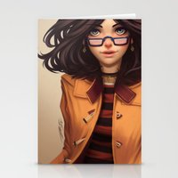 charmaine olivia Stationery Cards featuring Olivia by Rafa ArSen