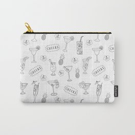 Cocktail Glasses Monochrome Carry-All Pouch