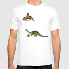 dino saurus MEDIUM White Mens Fitted Tee