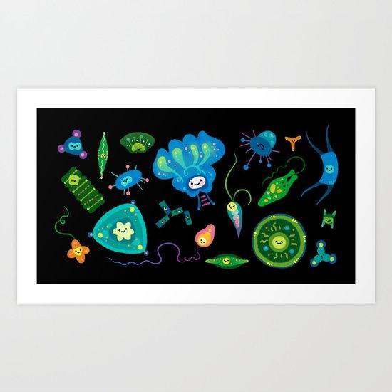 phytoplankton art print by pikaole society6