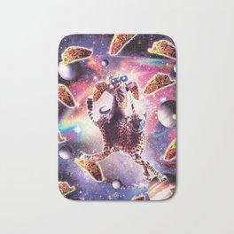 Thug Space Cat On Cheetah Unicorn With Taco Bath Mat