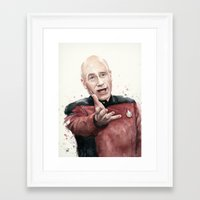 picard Framed Art Prints featuring Annoyed Picard Meme  by Olechka