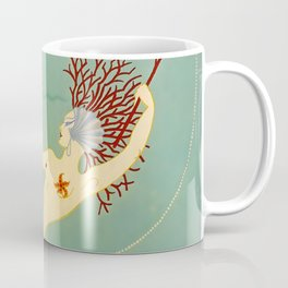 "Art Deco Illustration ""Water"" Coffee Mug"