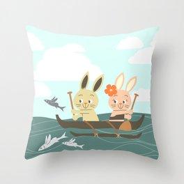 RIA - Canoe Throw Pillow