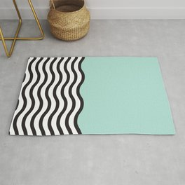 Waves of Green Rug