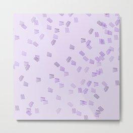 Lilac & purple puzzle Metal Print