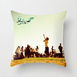 Butterfly Kite Throw Pillow