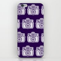 I Still Shoot Film Holga Logo - Reversed Deep Purple iPhone & iPod Skin