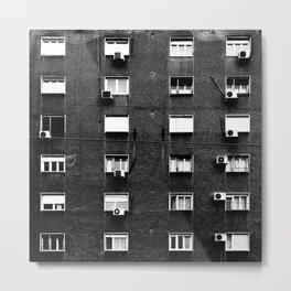Belgrade   Facade BW Metal Print