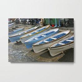 Blue Boats On Capri Metal Print