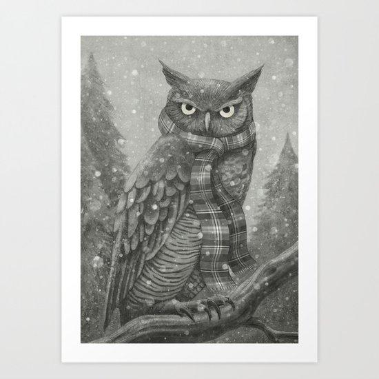 Winter Owl Art Print