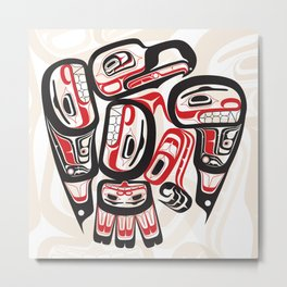Salish Eagle Coastal Strength Metal Print