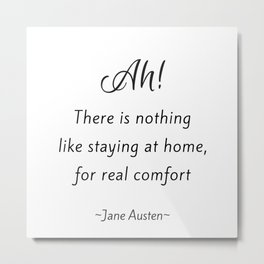 Jane Austen - Home Metal Print