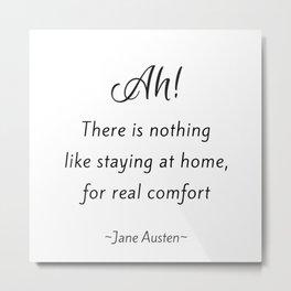 Jane Austen - Home Metal Print