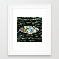 evil eye Framed Art Prints featuring Evil Eye by Lilly Guastella