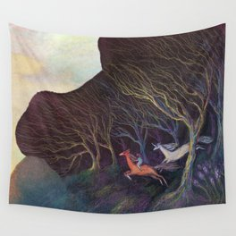 Adventures in the Dark Woods Wall Tapestry